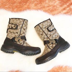 Coach ⚜️ Sharron Coach Monogrammed Boots